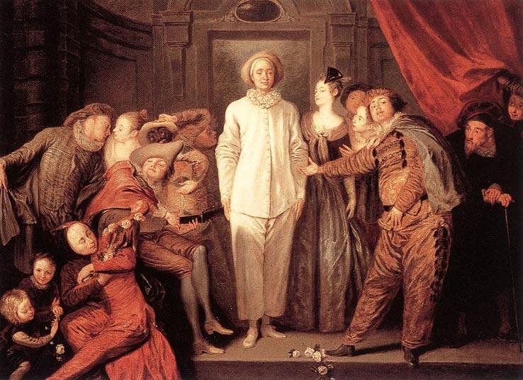 Ватто (Watteau) (Жан) Антуан Итальянские комедианты.